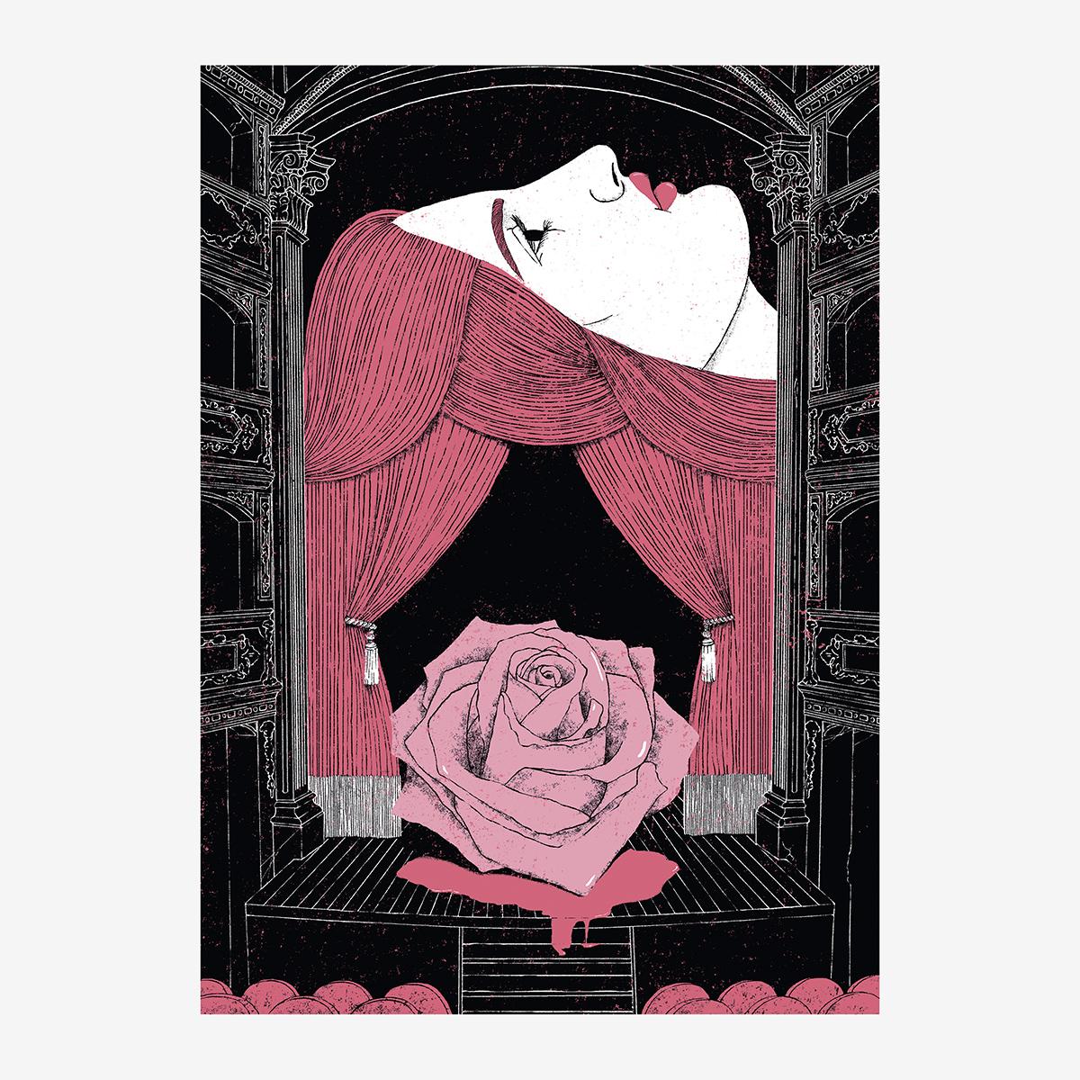 """3- Cap. IV / """"Sibyl Vane"""" Ilustración de Goyo Rodríguez"""
