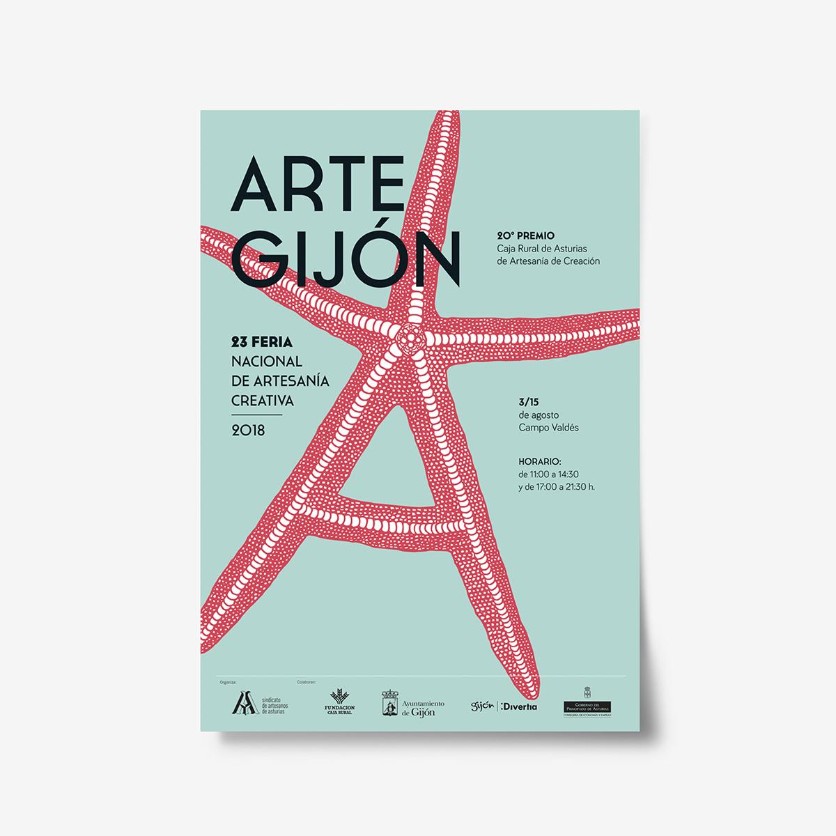 Cartel ArteGijon 2018 by Goyo Rodríguez