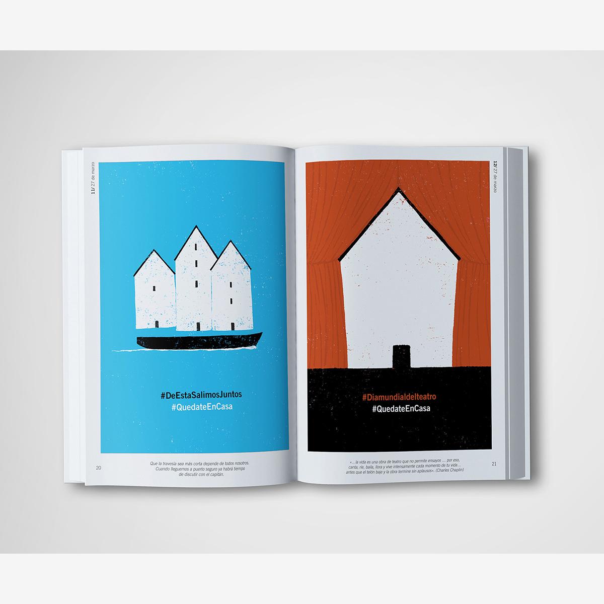 Casas. Diario gráfico del confinamiento. Libro ilustrado by Goyo Rodríguez