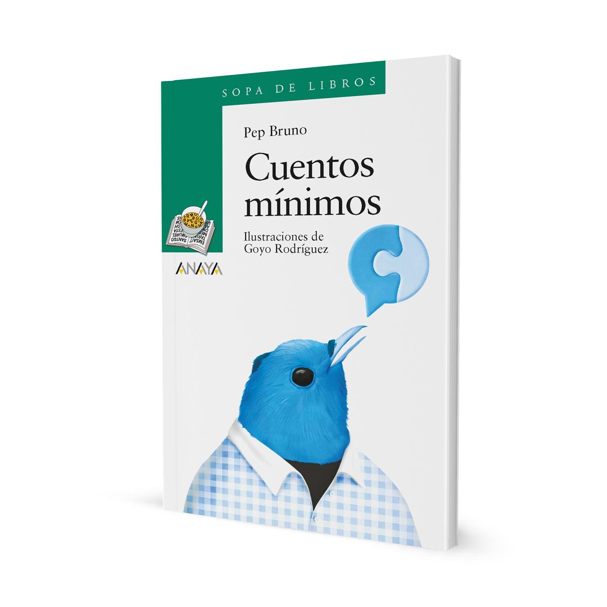 Cuentos mínimos, portada. Libros infantiles ilustrados por Goyo Rodríguez.