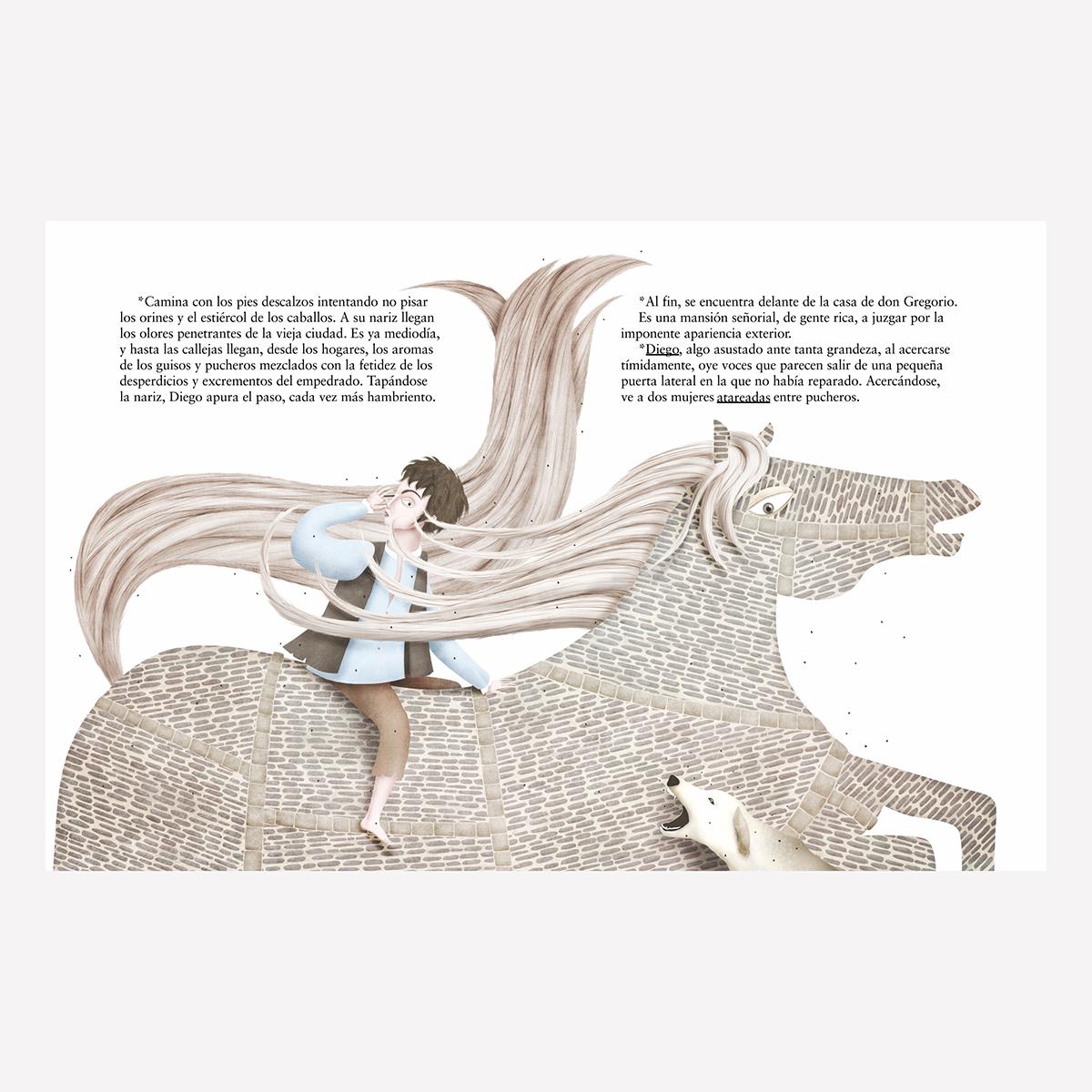 La Perla del Greco. Libro infantil ilustraciones Goyo Rodríguez.