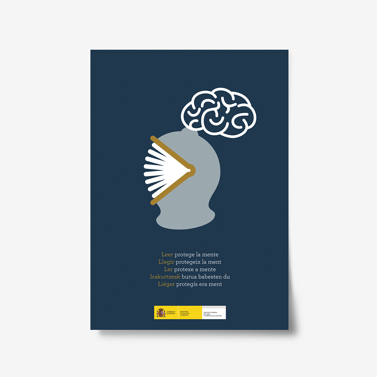 Leer protege la mente. Cartel by Goyo Rodríguez