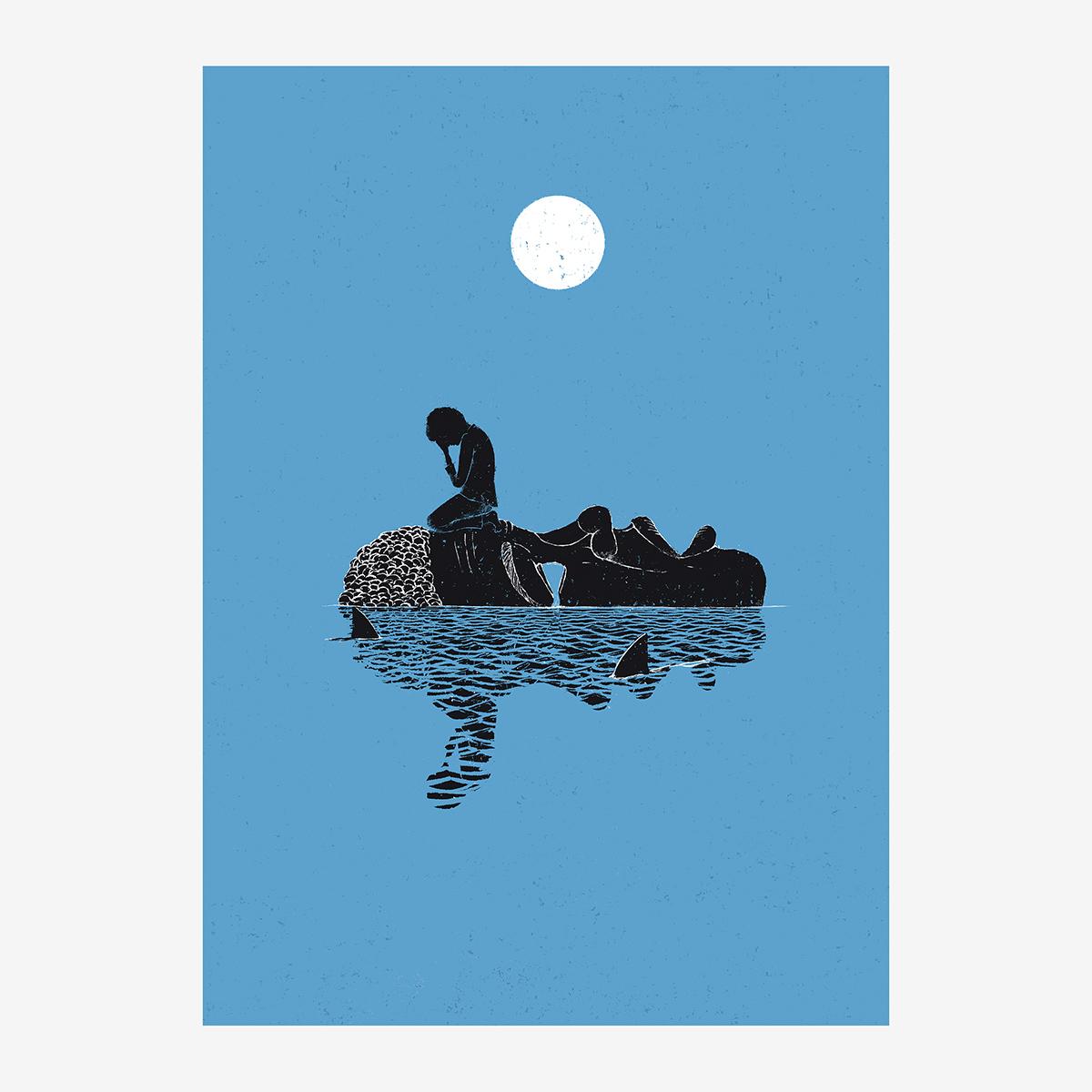 Cap. XIII / «Grumete al agua» ilustrado por Goyo Rodríguez