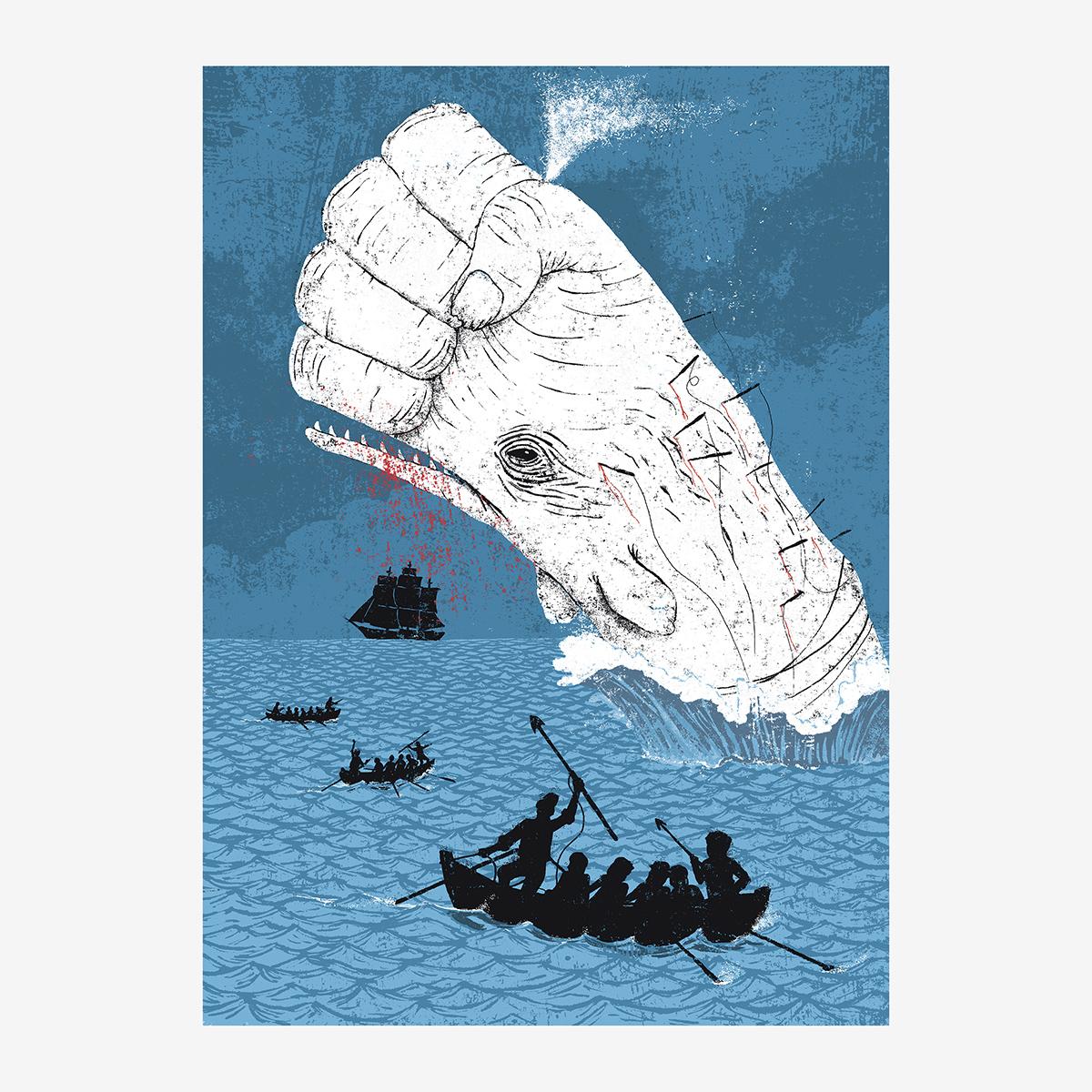 Cap. XXIII / «Sed de venganza». Moby Dick ilustrado por Goyo Rodríguez