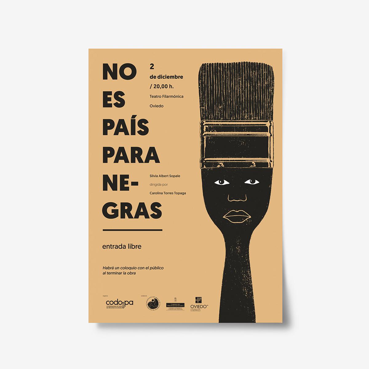 No es país para negras. Cartel by Goyo Rodríguez