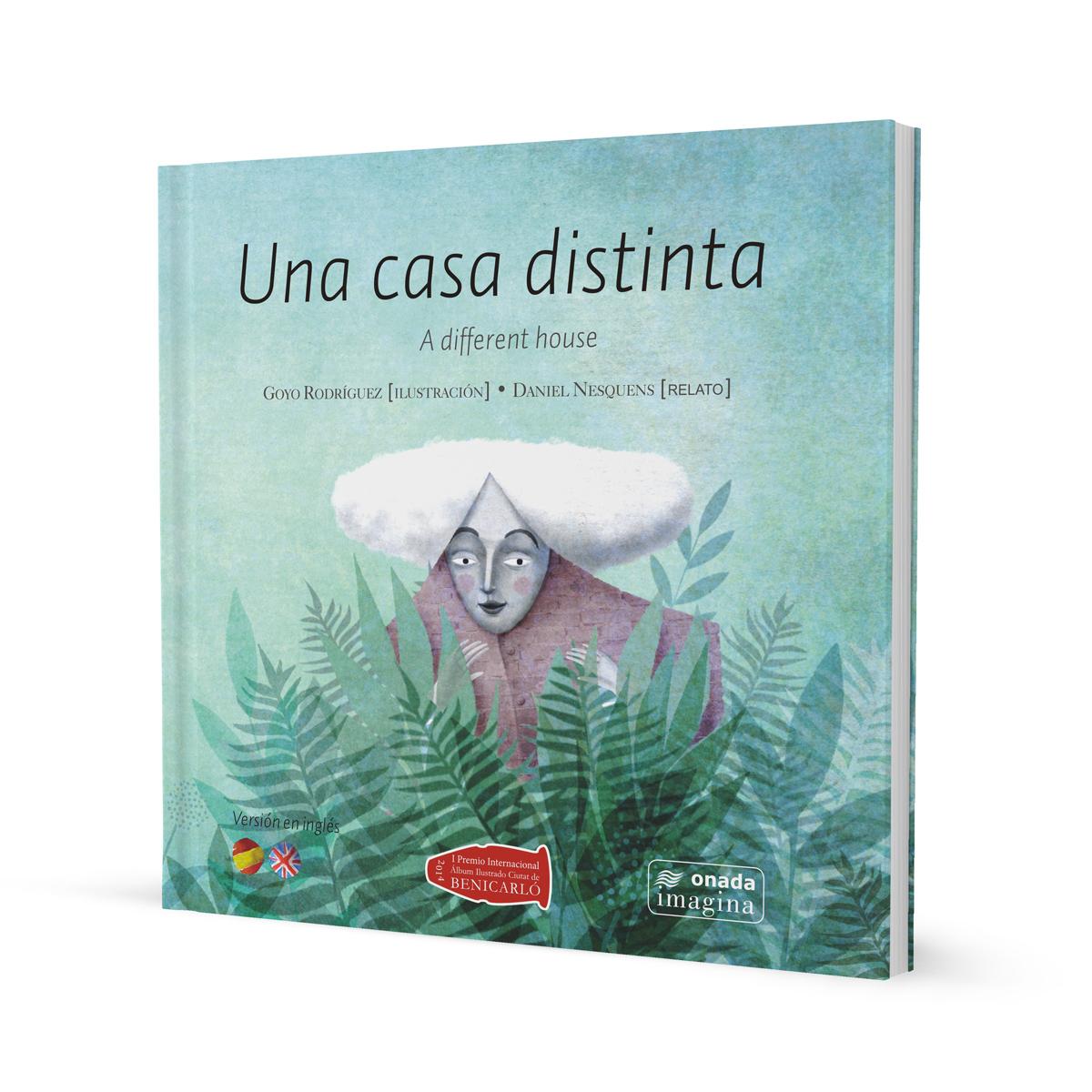 Una casa distinta, portada. Libro infantil ilustraciones Goyo Rodríguez.
