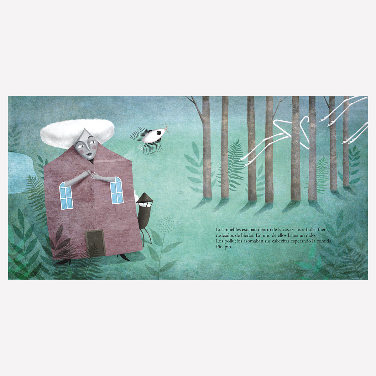 Una casa distinta. Libro infantil ilustraciones Goyo Rodríguez.