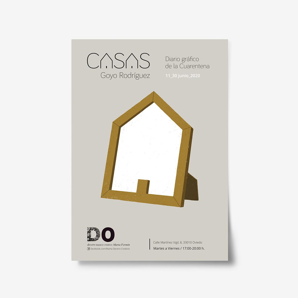Exposción Casas, diario gráfico de la Cuarentena by Goyo Rodríguez