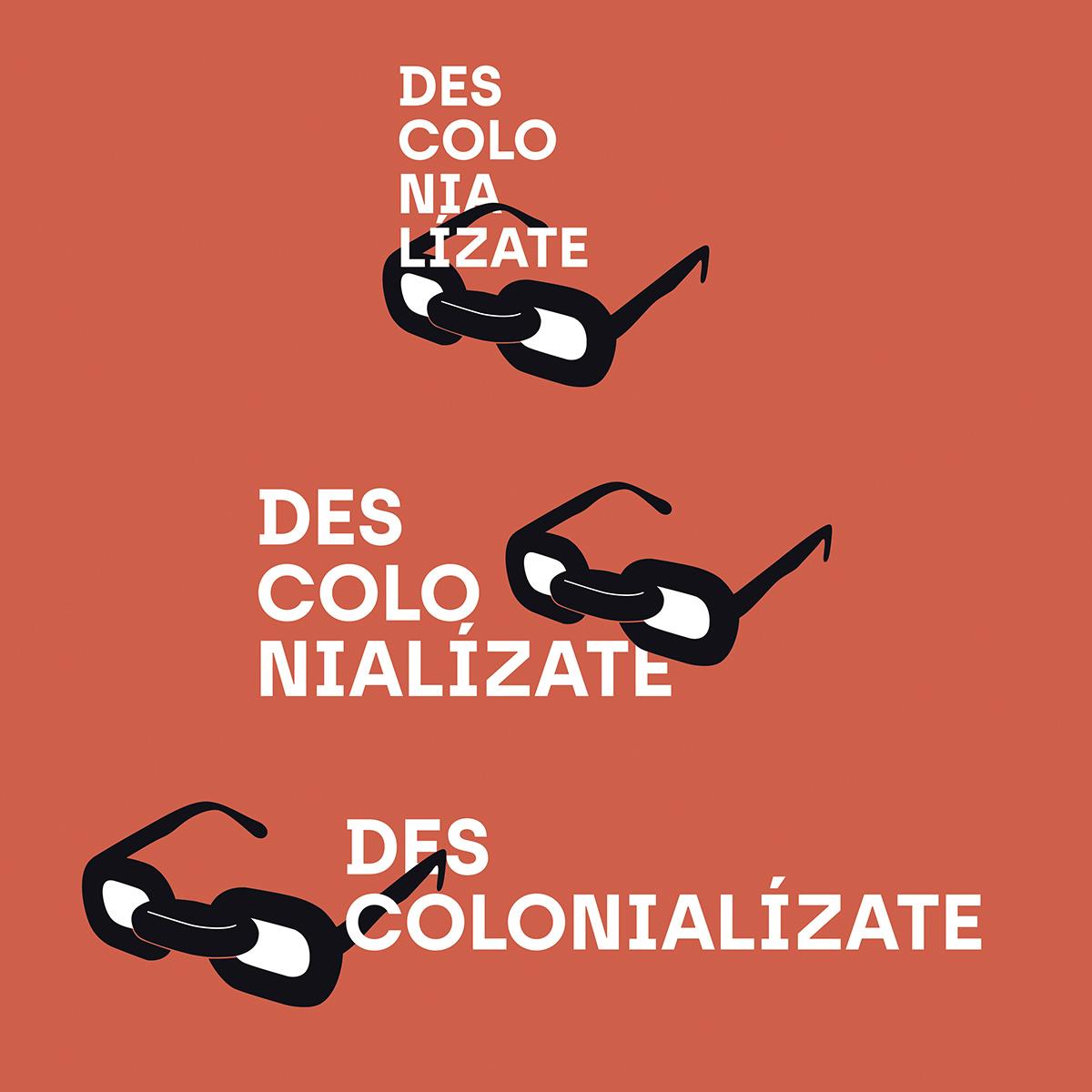 Logotipos Descolonialízate. Diseño Goyo Rodríguez