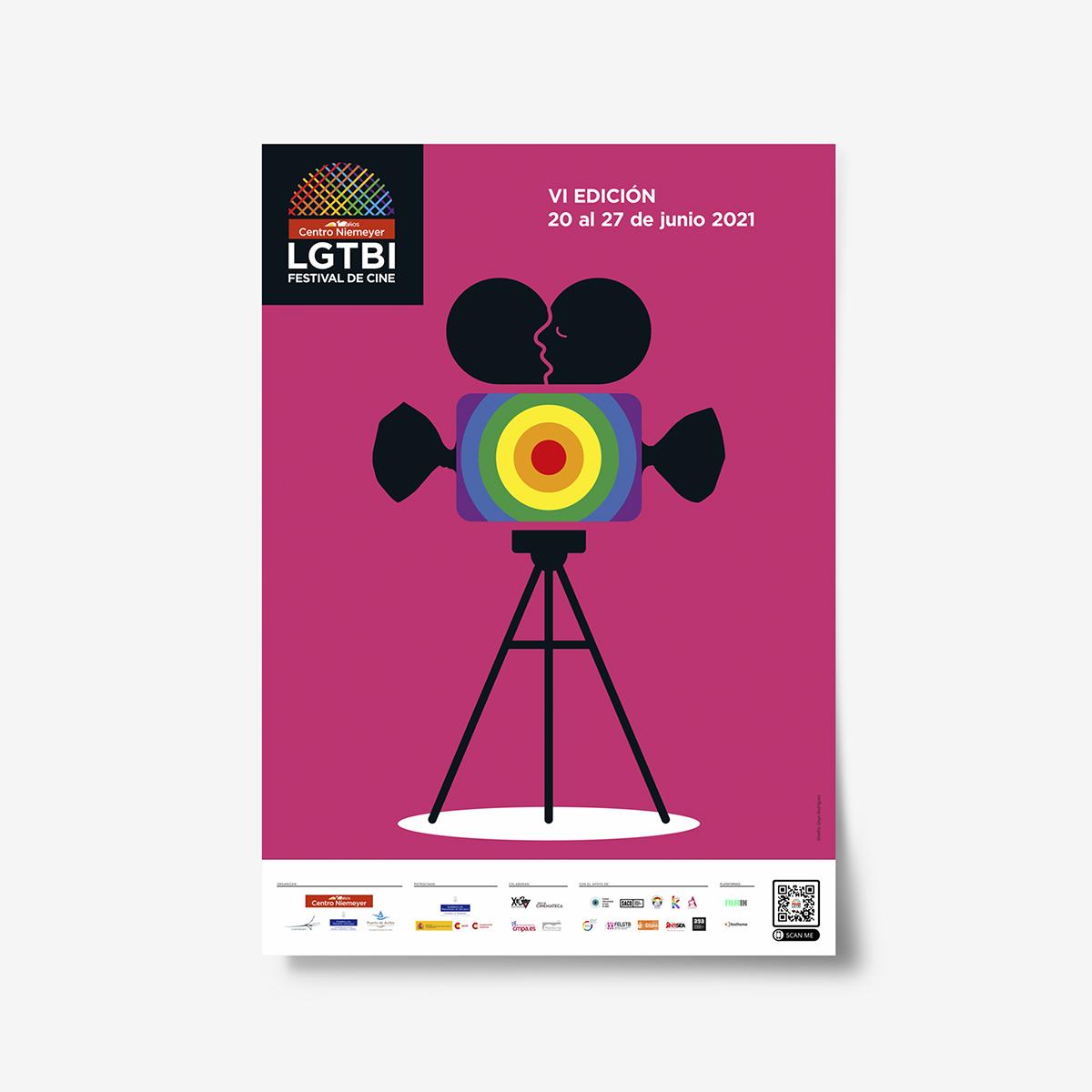 Cartel Festival de Cine LGTBI dentro de la programación del Centro Niemeyer by Goyo Rodríguez.