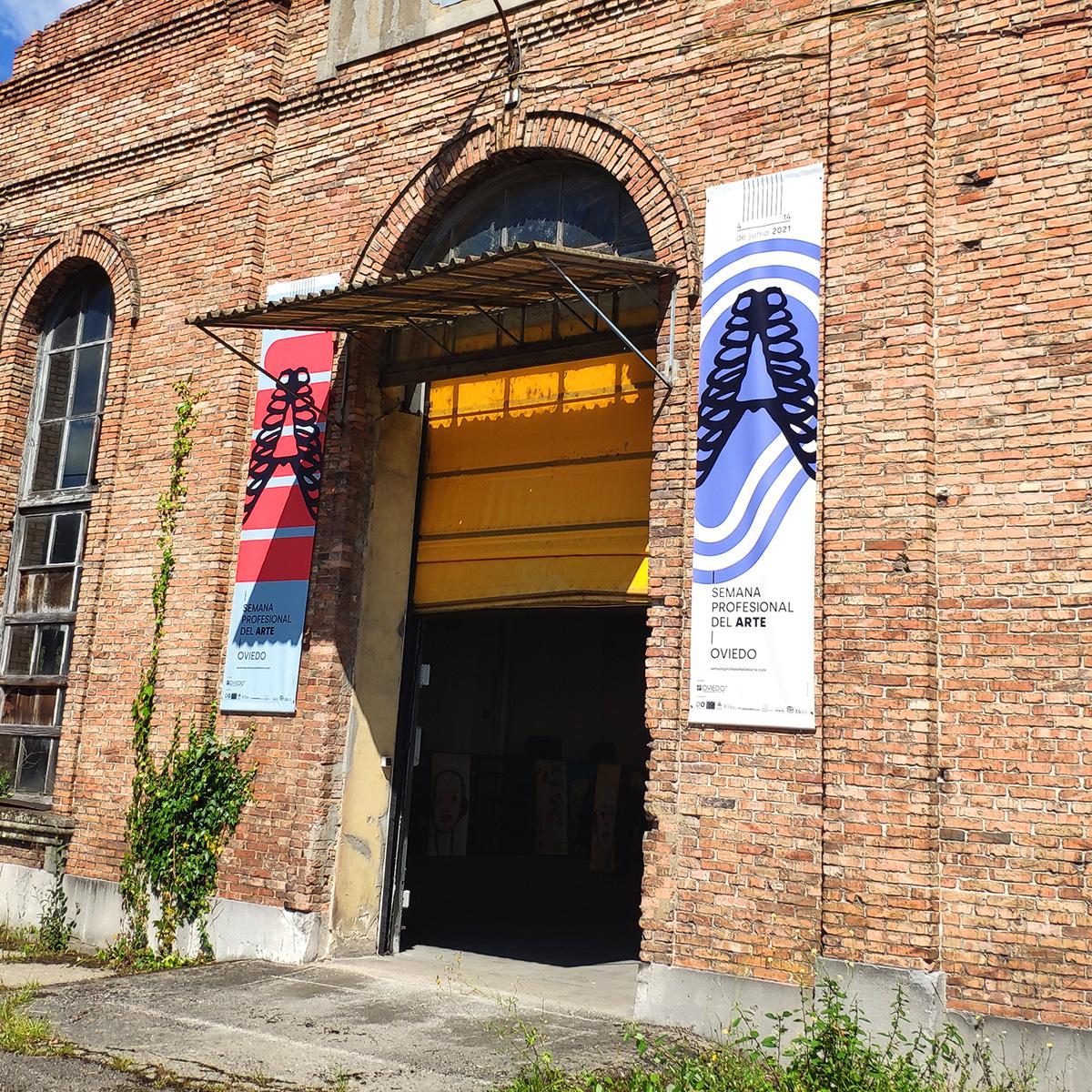 Entrada Fábrica de Armas de Oviedo. Semana Profesional del Arte. Goyo Rodríguez